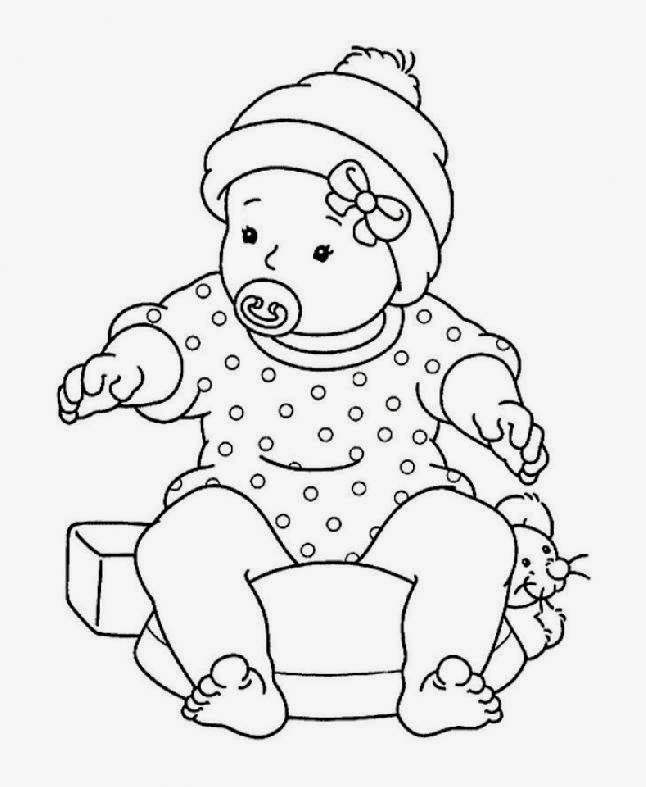 Baby Doll Coloring Pictures Thestout