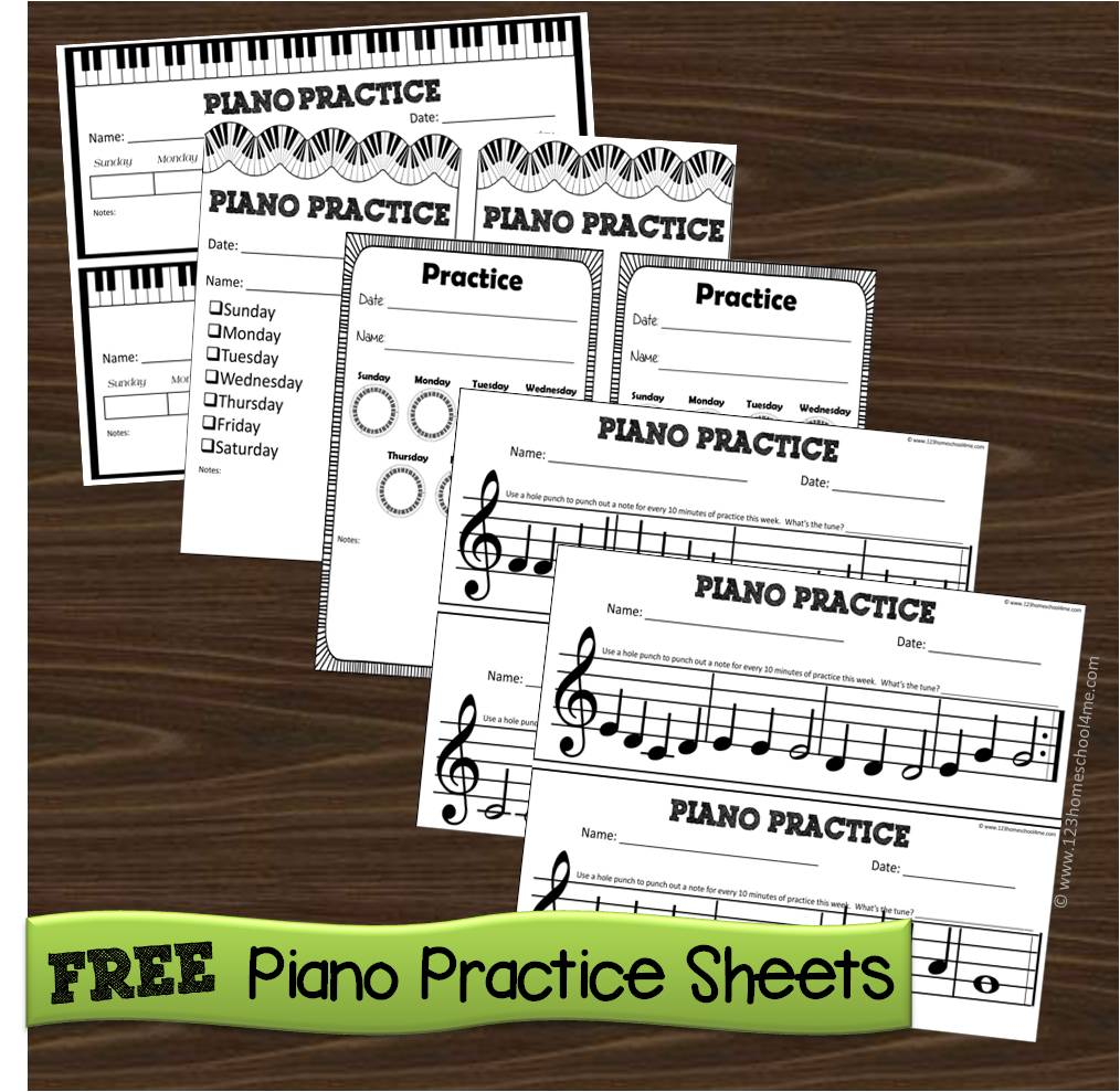 It's just a picture of Geeky Printable Music Practice Log