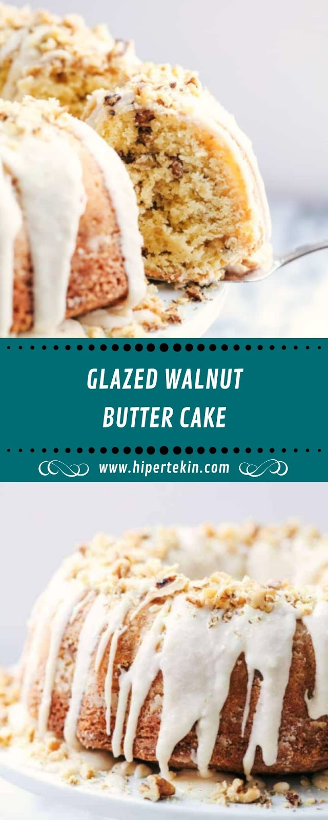 GLAZED WALNUT BUTTER CAKE