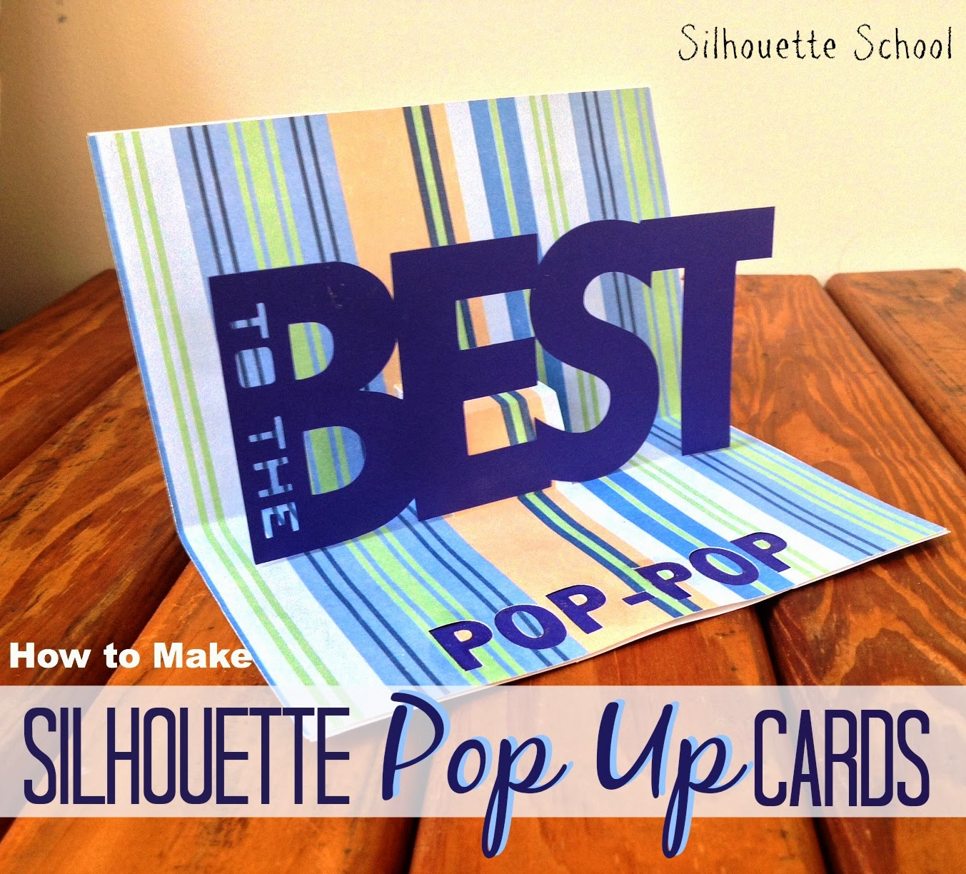 Pop-up card, Silhouette, tutorial, Silhouette Studio, free template