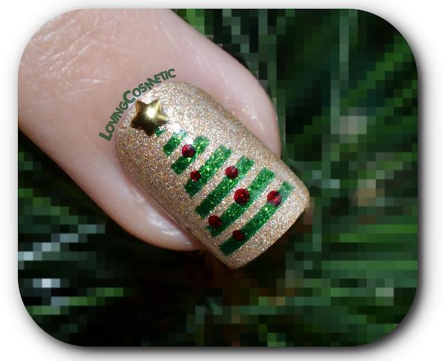 Arbol navideño, arbol de navidad, estrellas, bornprettystore, dorado, verde kiko 533, christmas, manicura navideña, mani, nailart , nails