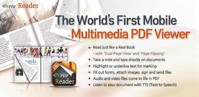 تنزيل تطبيق ezPDF Reader  - عرض وتحرير مستندات PDF لهواتف الاندرويد