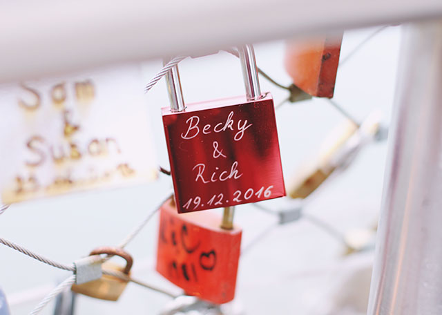 Becky and Rich love lock