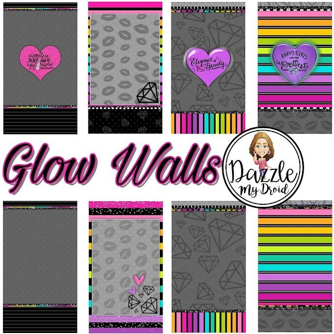 GLOW WALLS to match Brittney's new theme