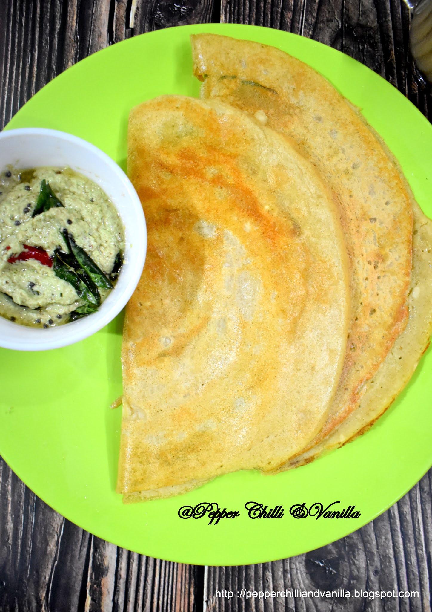 how to make dal dosa,no rice mixed dal dosa