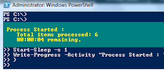 Display PowerShell Progress Bar Status