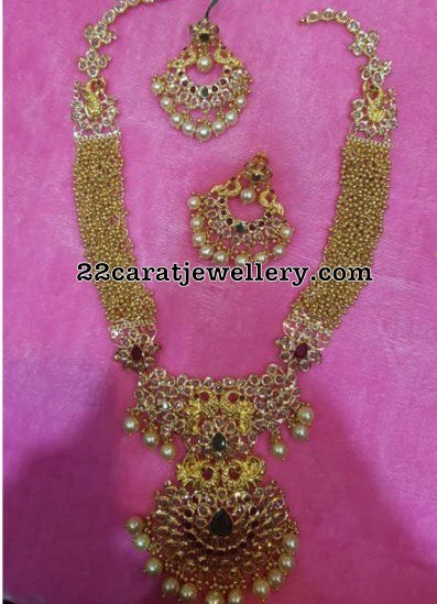 Gold Swirls Pachi Long Chain