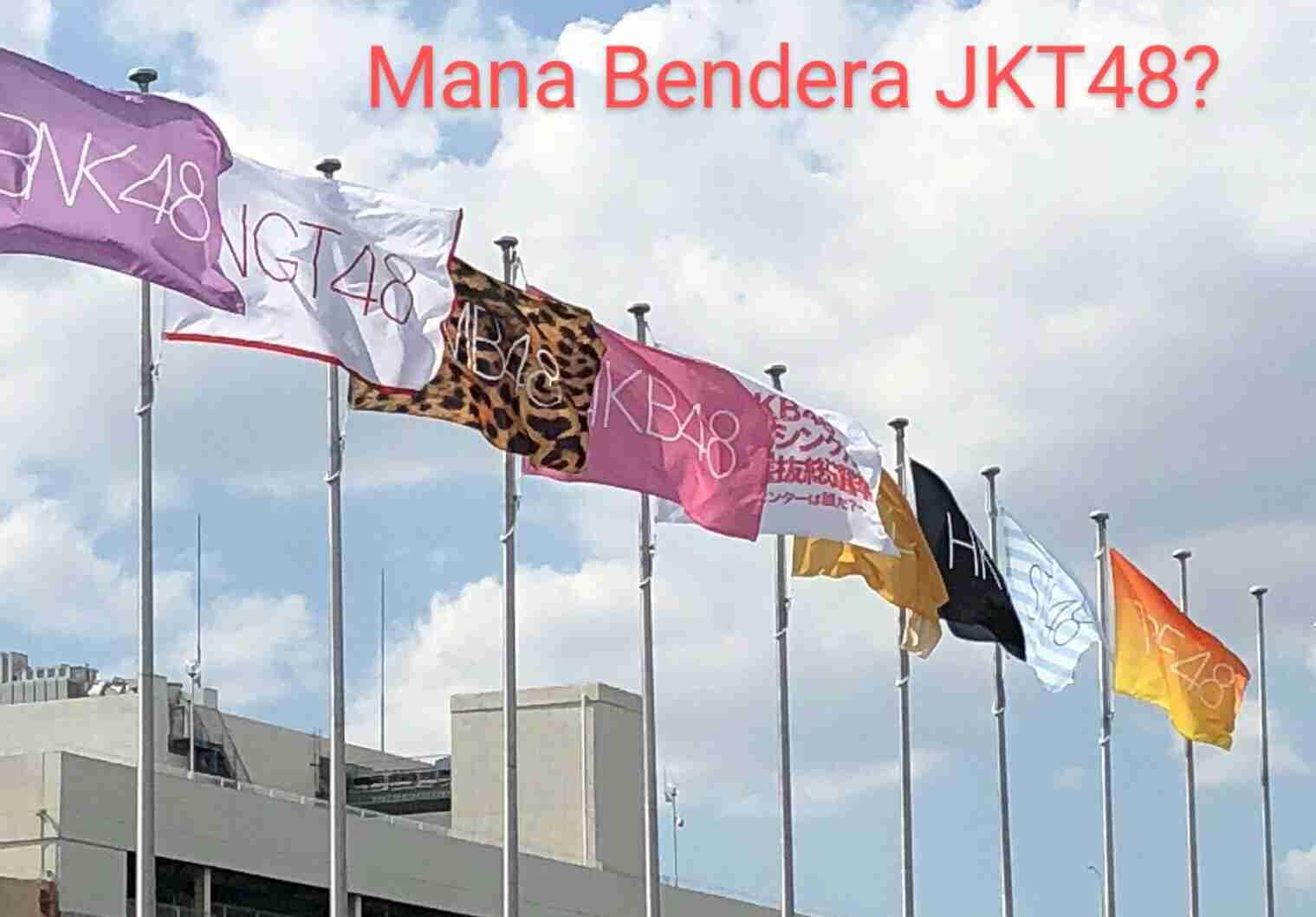 bendera jkt48 di jepang event akb48 group