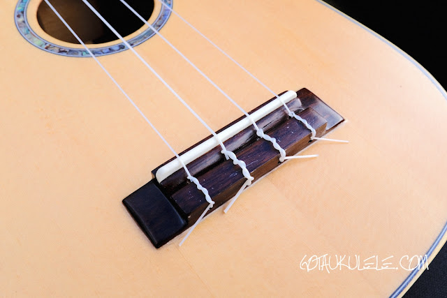Noah Pineapple Soprano Ukulele bridge