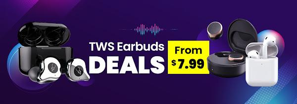 Promoção nos Earbuds e Headphones na Geekuying