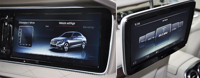 Mercedes Maybach S500 2017 sử dụng Hệ thống giải trí tiên tiến và hàng đầu của Mercedes hiện nay