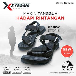 Sandal xtreme gunung warna hitam