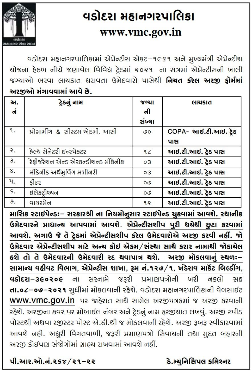 VMC Recruitment 2021