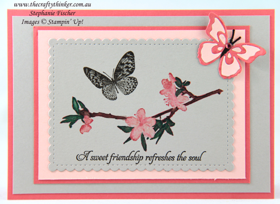 #thecraftythinker #stampinup #cardmaking #butterflywishes , Butterfly Wishes, Butterfly Beauty, Stitched So Sweetly, Stampin' Up Demonstrator Stephanie Fischer, Sydney NSW