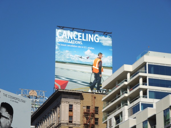 Canceling cancellations Delta billboard Oct 14