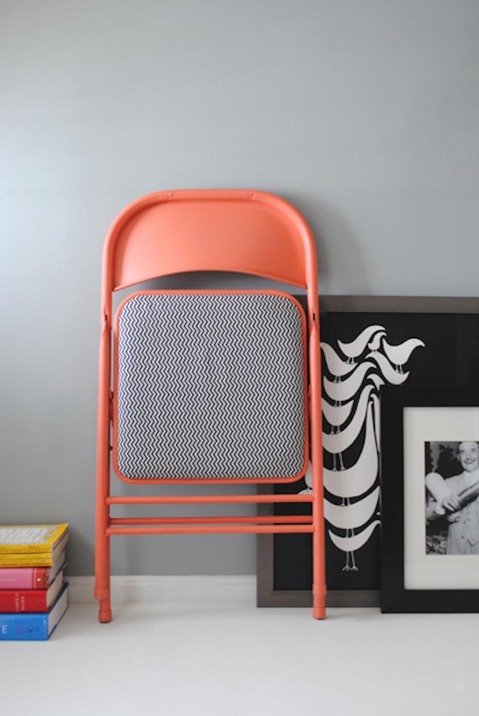 Silla plegable tapizada y pintada (DIY)