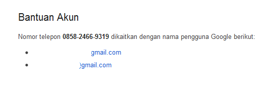pemulihan akun google dengan nomor hp