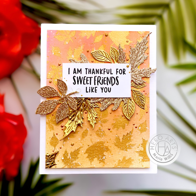 Cardbomb, Maria Willis, Hero Arts,My Monthly Hero September 2021,#sunflower,cards, cardmaking, stamps, stamping, art, diy, paper, papercraft, Nuvo, create, handmade, foiling,die cutting,