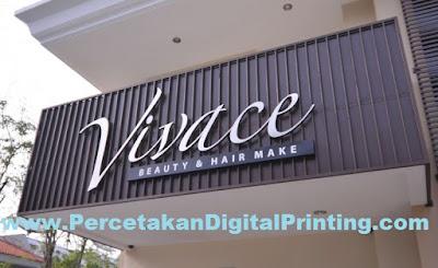 Contoh Contoh Desain HURUF TIMBUL STAINLESS Dari Percetakan Digital Printing Terdekat