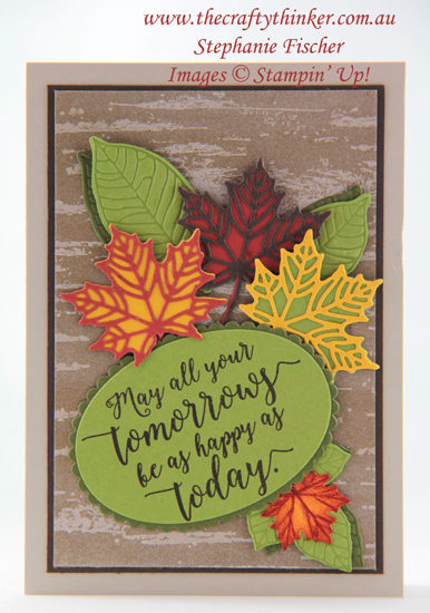 #thecraftythinker #stampinup #cardmaking #birch #masculinecard , Birch, Masculine Card, Foliage, Seasonal Layers, Stampin' Up Australia Demonstrator, Stephanie Fischer, Sydney NSW