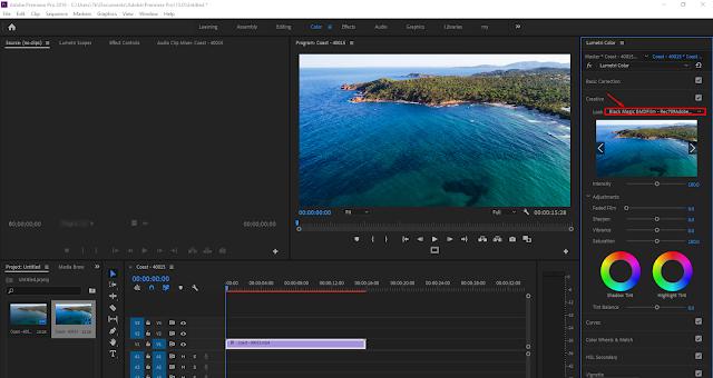 الأنماط اللونية داخل برنامج Adobe Premiere