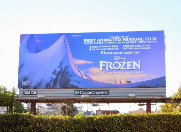 Disney Frozen awards billboard