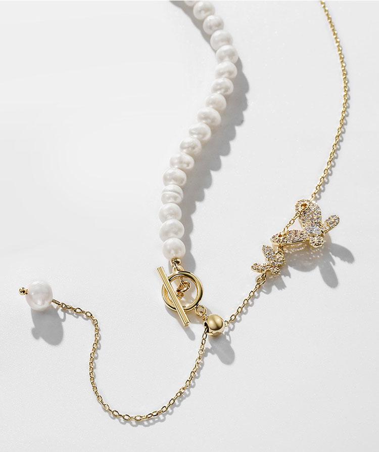 甜蜜依偎淡水真珍珠鎖骨鍊