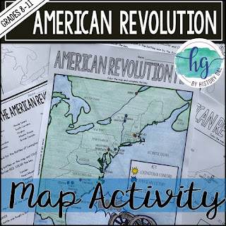 Thumbnail image of American Revolution Map Activity by History Gal