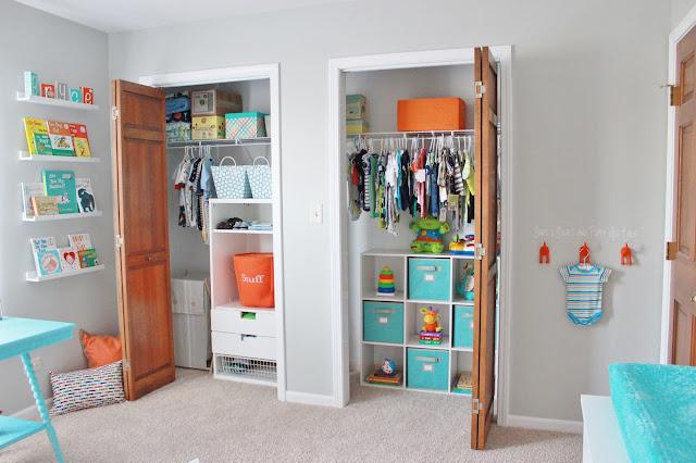 organizing baby closet
