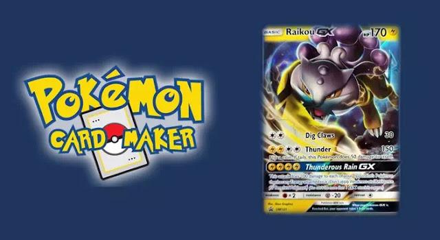 Membuat kartu pokemon secara online