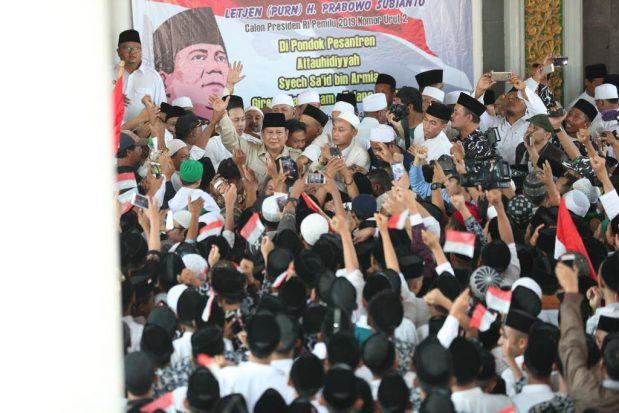 Tak Disangka, Banser Sambut Antusias Kedatangan Prabowo di Kota Ini