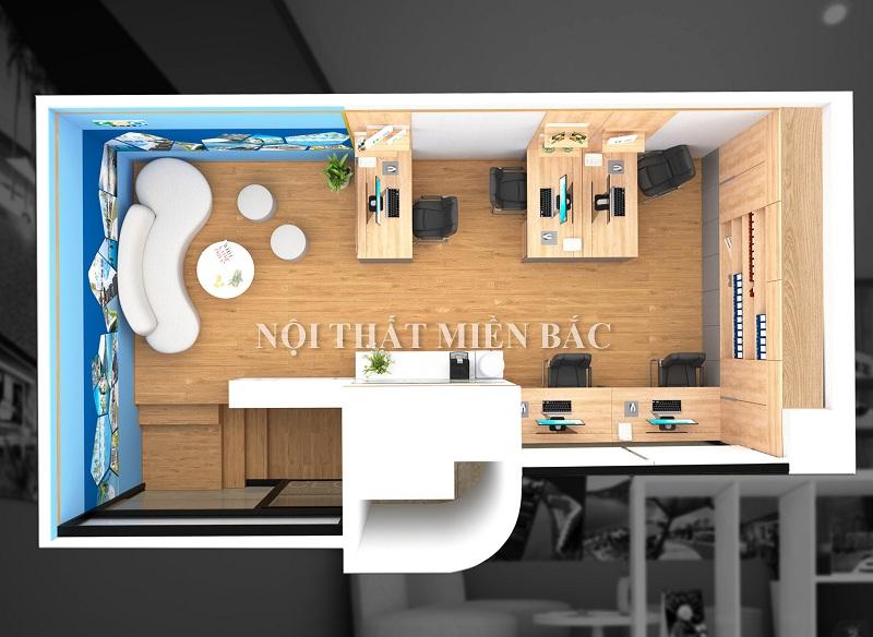 Thiết kế nội thất văn phòng làm việc với cách bố trí nội thất khoa học