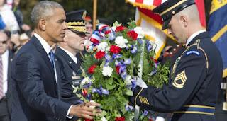 """Obama pone a veteranos como """"ejemplo"""" para recobrar la unidad tras elecciones"""