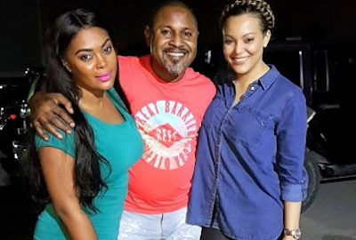 Sarah Ofili On Set Of A New Movie With Saidi Balogun & Ofcourse Her Bestie Too [Photos]