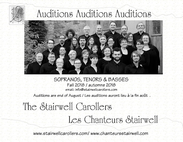 2018 Stairwell Carollers audition notice