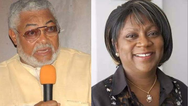 Former President Jerry John Rawlings and Valerie Sawyerr