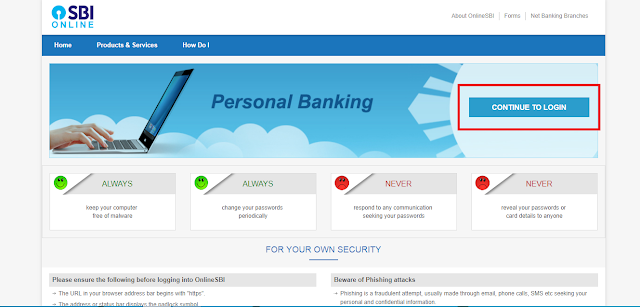 how to online banking in sbi