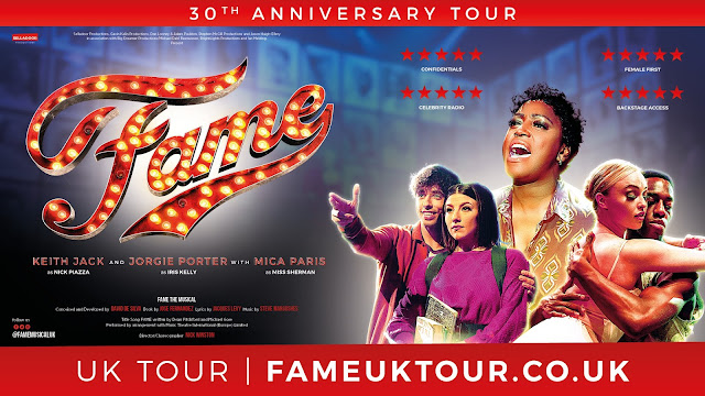 Fame 30th anniversary tour banner