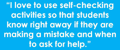 self checking middle school math activities 2