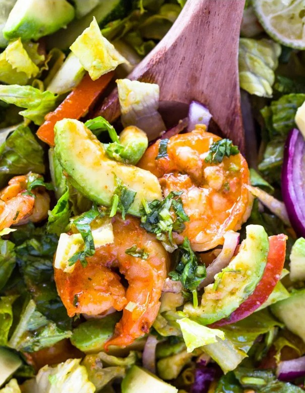 Recipe: Skinny Shrimp Avocado Salad