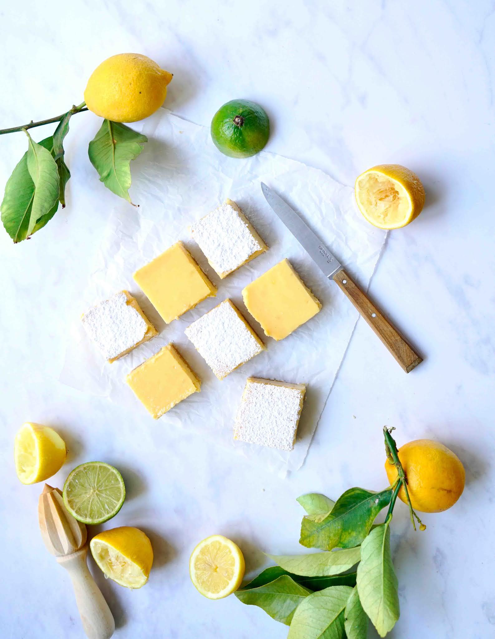 carrés au citron , recette facile , cuisine rapide