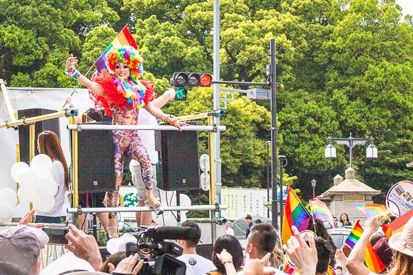 Tokyo Rainbow Pride 2016 float, Harajuku, Tokyo.