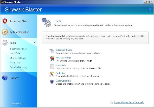 SpywareBlaster - Solo Nuevas