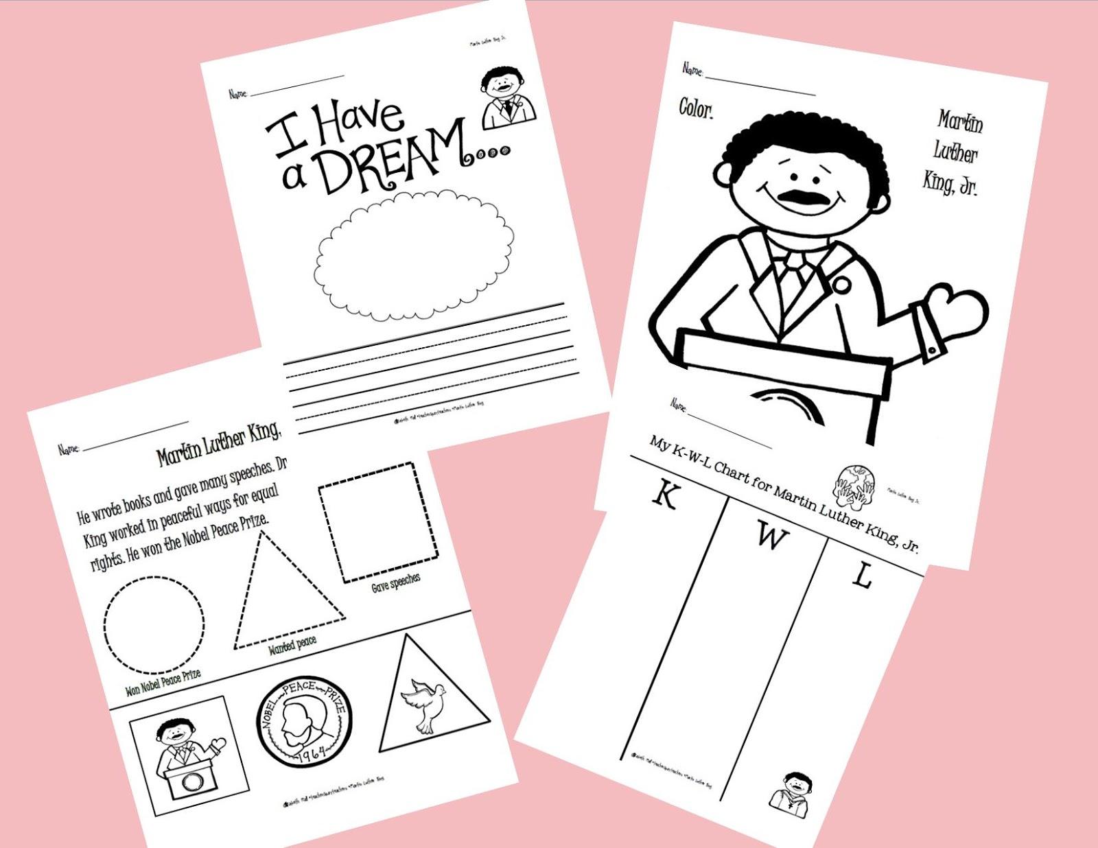 Mlk Jr Worksheets Kindergarten