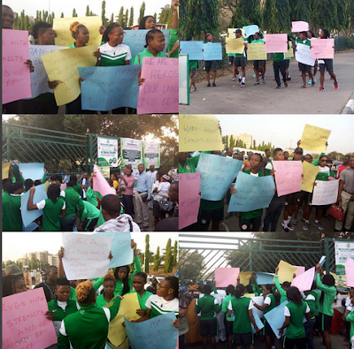Image result for Super Falcons Protest Unpaid Entitlements