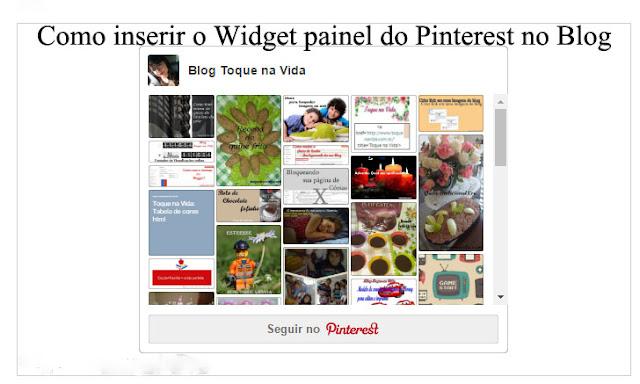 Como inserir o Widget painel do Pinterest no Blog