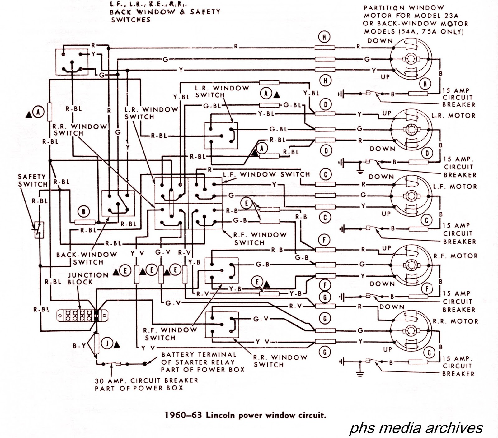 phscollectorcarworld: tech series: 1960-1964 lincoln wiring diagrams lincoln continental convertible top wiring diagram  phscollectorcarworld