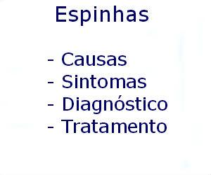 Espinhas causas sintomas diagnóstico tratamento prevenção riscos complicações