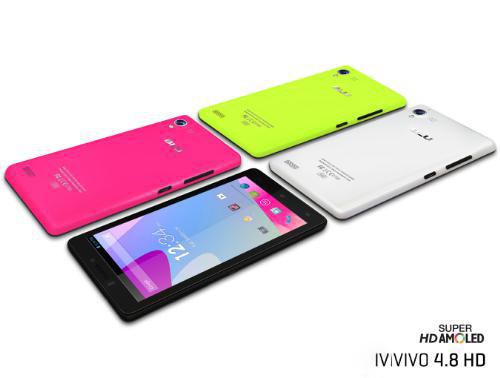 BLU Vivo 4.8 HD Specifications - LAUNCH Announced 2014, January DISPLAY Type Super AMOLED capacitive touchscreen, 16M colors Size 4.8 inches (~66.2% screen-to-body ratio) Resolution 720 x 1280 pixels (~306 ppi pixel density) Multitouch Yes BODY Dimensions 137 x 70 x 6.9 mm (5.39 x 2.76 x 0.27 in) Weight 135 g (4.76 oz) SIM Micro-SIM PLATFORM OS Android OS, v4.2 (Jelly Bean) CPU Quad-core 1.5 GHz Cortex-A7 Chipset Mediatek MT6589T GPU PowerVR SGX544MP2 MEMORY Card slot No Internal 16 GB, 1 GB RAM CAMERA Primary Primary 8 MP, autofocus, LED flash Secondary 5 MP Features Geo-tagging, touch focus, face/smile detection, HDR Video 1080p@30fps NETWORK Technology GSM / HSPA 2G bands GSM 850 / 900 / 1800 / 1900 3G bands HSDPA 850 / 1900 - D940a    HSDPA 850 / 2100 - D940i Speed HSPA 42.2/11.5 Mbps GPRS Yes EDGE Yes COMMS WLAN Yes, hotspot GPS Yes, with A-GPS USB microUSB v2.0 Radio FM radio Bluetooth v3.0 FEATURES Sensors Sensors Accelerometer, gyro, proximity Messaging SMS(threaded view), MMS, Email, Push Email, IM Browser HTML5 Java No SOUND Alert types Vibration; MP3, WAV ringtones Loudspeaker Yes 3.5mm jack Yes BATTERY  Non-removable Li-Ion 2000 mAh battery Stand-by Up to 790 h (2G) / Up to 590 h (3G) Talk time Talk time Up to 22 h (2G) / Up to 12 h (3G) Music play Talk time Up to 22 h (2G) / Up to 12 h (3G) MISC Colors White, Black, Pink, Yellow SAR US - MP4/WMV/H.264 player - MP3/WAV/WMA/AAC player - Photo/video editor - Voice memo