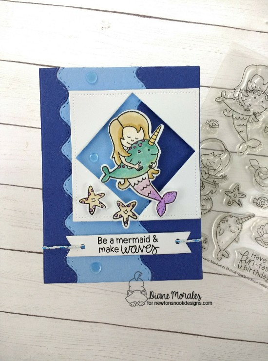 Be a mermaid & make waves by Diane features Narly Mermaids and Sea Borders by Newton's Nook Designs; #newtonsnook